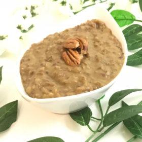 vegan spiced pudding
